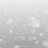 Falling snow — Stock Vector