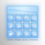 Blue Buttons — Stock Vector #43666509