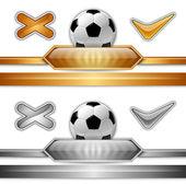 Fotboll symbol — Stockvektor