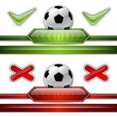 サッカーのシンボル — ストックベクタ