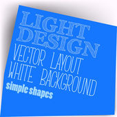 Simple Layout — Stock Vector