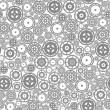 Seamless Cogwheel Pattern — Stock Vector #45015945