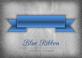 Blue Ribbon — Stock Vector