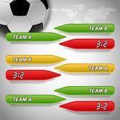 Voetbal achtergrond — Stockvector
