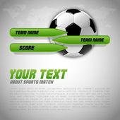 Soccer Layout — Stockvector