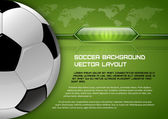 Soccer Layout — Stock Vector