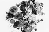 Rozbité hodinky mechanismus — Stock fotografie