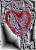 Carved heart — Stock Photo