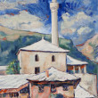 Stock Photo: Minaret in Mostar