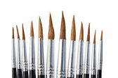 Isolated brushes — Stockfoto
