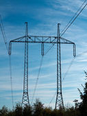 Pylons - high voltage — Stock Photo