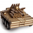 Tank from shells — Stock Photo