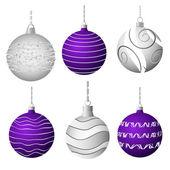 ベクトルのクリスマス ボール — ストックベクタ