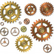 Cogwheels gears on white background — Stock Photo #17370425