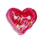 Painted heart - symbol of love — Stock Photo