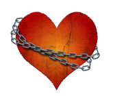 Chained heart — Stock Photo