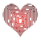 Maze in the heart — Stock Vector