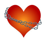 Vector chained heart — Stock Vector