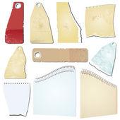 Vector grunge notepad scrap memo paper — Stock Vector