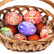 Basket full of Ester Eggs - Stock Photo