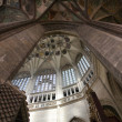 Pointed vault of Saint Barbara church — Stock Photo