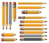 Vector various pencils — Stock Vector