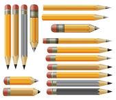 Vector various pencils — Stock Vector