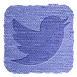 Twitter icon in grunge style — Stock Vector
