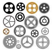 Vector gears cogwheels — Stock Vector