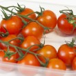 Bowl of cherry tomatoes — Stock Photo