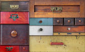 In utter secrecy - various drawers — Stock Photo