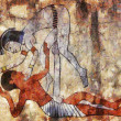 Erotic art of ancient Egypt — Stock Photo