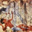 Erotic art of ancient Egypt — Stock Photo
