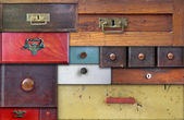 Various old drawers - in utter secrecy — Stock Photo