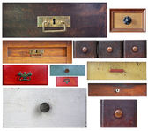 Various old drawers — Stock Photo