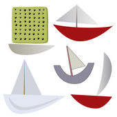 Vector various boats — Vettoriale Stock