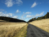 Tableland with road — Stock Photo
