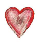 окрашенные сердце - символ любви — Стоковое фото