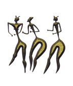 Three women - primitive art — Stock Photo