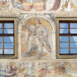 Renaissance windows and sgraffito — Stock Photo #40973323