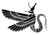 Egyptian demon — Stock Vector