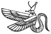 Vector Dragon - demon of ancient Egypt — Stock Vector