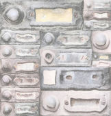 Old doorbells — Stock Photo