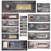 Set of the old doorbells — Stok fotoğraf