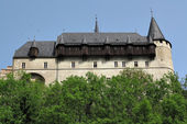 Burgraviate palace - Karlstejn castle — Stock Photo