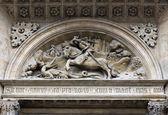 Saint George and dragon — Stock Photo