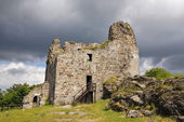 Ruins of Primda castle — Foto Stock