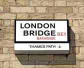 London Bridge sign — Stock Photo