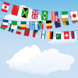 Flags of the world bunting — Stock Vector #12164765