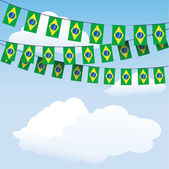 Brazil flag bunting — Stock Vector